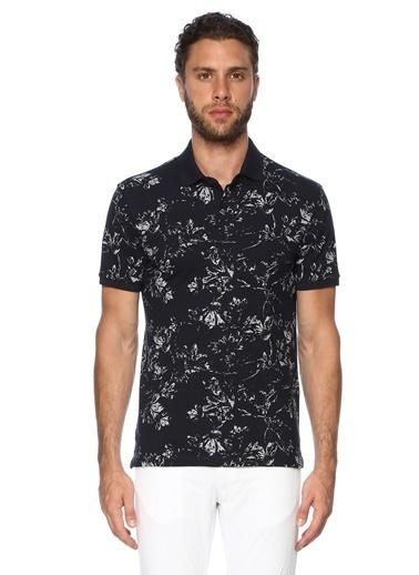 George Hogg George Hogg 7003326 Polo Yaka Slim Fit Nar Çiçeği Tshirt Erkek Tişört Lacivert